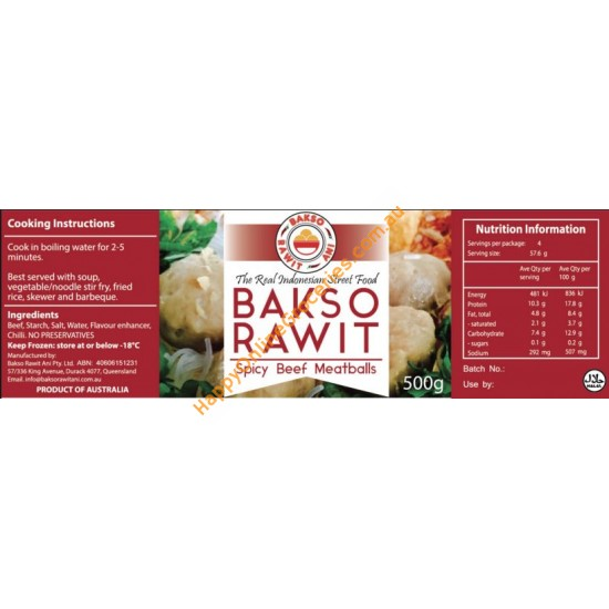 Bakso Rawit Ani - Spicy Beef Meatball 500g