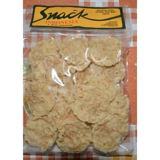 Snack - Peyek Teri Mini 100g