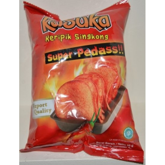 Kusuka - Keripik Singkong Super Pedas